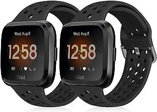 Runostrich Sportrem kompatibel med Fitbit Versa 2/Fitbit Versa/Versa Lite/SE, mjukt silikonband ersättning andningsbart ar...