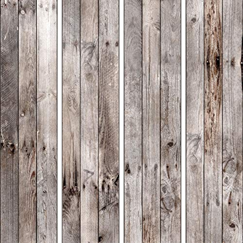 decomonkey PURO TAPETE | Deko Panel | Tapete ohne Rapport und Versatz Vlies Wanddekoration Design Tapetenrolle 10 m Wandtapete Fototapete Bretter Holzoptik Holz