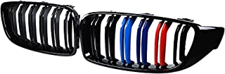 Astra Depot Front Kidney Grille Compatible with 2014-2017 2018 F32 F33 F36 F82 F83 4-Series F80 M3 (Glossy Black M-Color)
