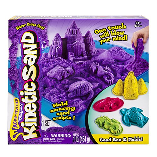 Purple Kinetic Sand Box Set - Magic Play Sand - Spinmaster