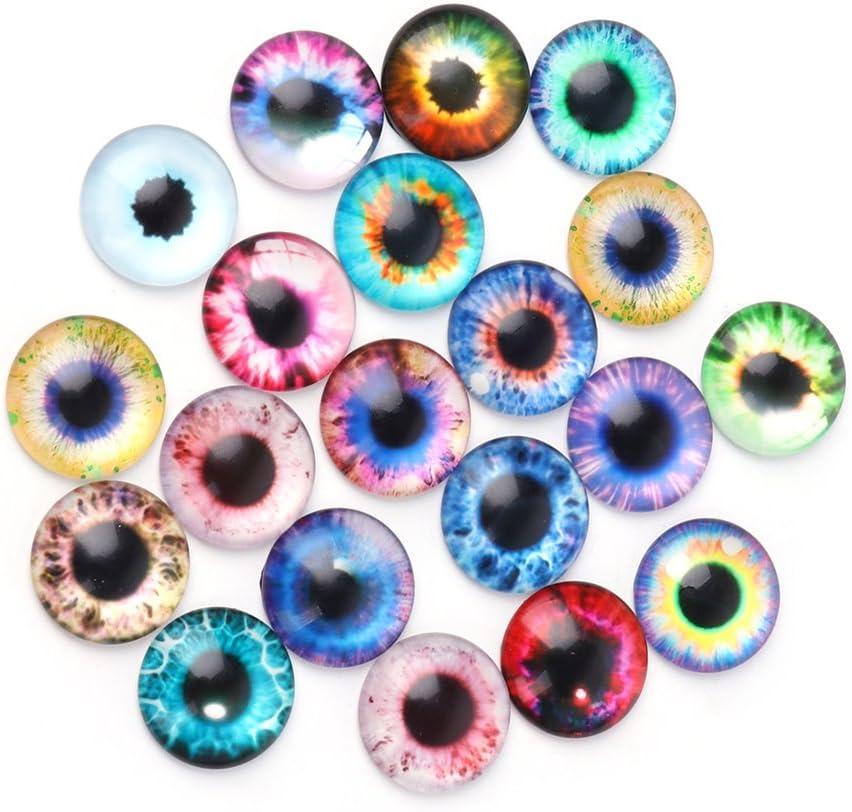 20mm 10Mm 20 Piezas de Ojos de mu/ñecas de Vidrio DIY artesan/ía Ojos de Animales Accesorios de joyer/ía 10//16 n\a Ojos de mu/ñeca de Vidrio haohao3