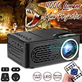 7000 Lumens 1080P HD LED Portable Projector 320x240 Resolution Multimedia Home Cinema Movie Beamer Video Theater