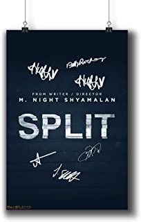 Pentagonwork Split (2017) Movie Photo Poster Prints 996-001 Reprint Signed Casts,Wall Art Decor Gift (A3|11x17inch|29x42cm)