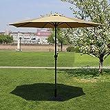 ポータブルパラソルマーケットパティオ屋外傘ガーデン芝生テーブルサンキャノピー鉄柱傘UV保護270cm * 250cm