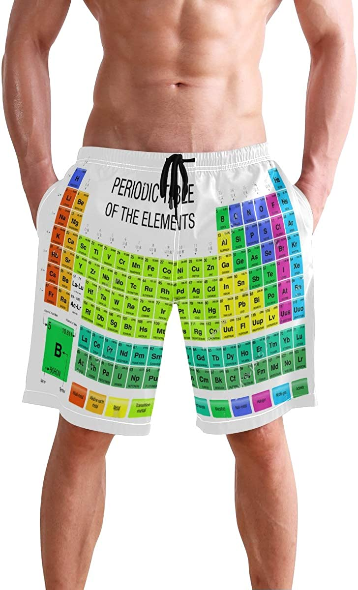 Mens Shorts Chemistry Periodic Table Pants 2021 new Easy-to-use Short Boys fo Pajamas