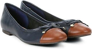 49d6dd0ce Sapatilha Couro Shoestock Bico Redondo Laço Feminina