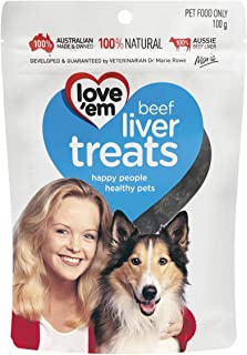 Love Em Beef Liver Treats, Small and Medium, Puppy, 500g Dry Dog Food