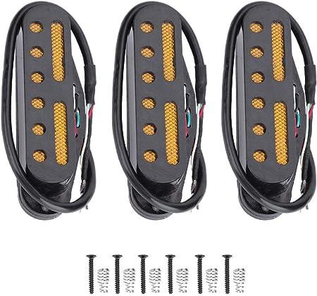 ピックアップ シングル 3 PCS/セットギター ピックアップ SSSピックアップ スタイルギター用(ブラック)