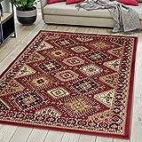 Carpeto Rugs Tapis Salon Orientale Rouge Bordeaux 120 x 170 cm Différentes Tailles...