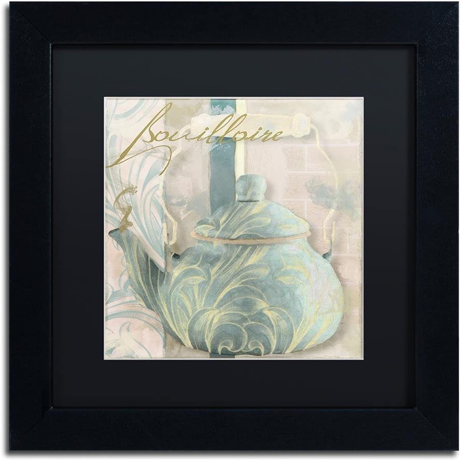 Trademark Fine Art ALI4487-B1111BMF Pots blues I by color Bakery, Black Matte, Black Frame 11x11