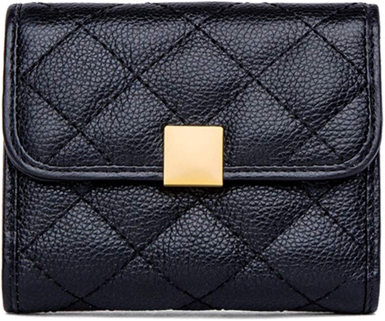Vnlig Women's Coin Purse Korean Version of The Clutch Bag Short Wallet Mini Change Women