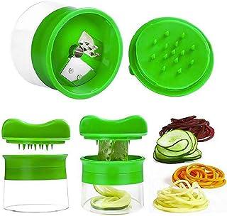 Conquror - Rallador de zanahorias y pepinos en espiral para verduras y frutas, cortador en espiral