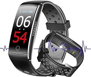 スマートウォッチ 血圧計 心拍計 歩数計 スマートブレスレット 活動量計 カロリー 自動睡眠監視 健康管理 SMS/Facebook/Line/着信通知・拒否 タッチ操作 カラースクリーン 大字幕 IP68防水 iPhone&Android 対応 日本語対応 smart watch (グレー)