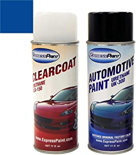 ExpressPaint Aerosol - Automotive Touch-up Paint for Honda Civic - Eternal Blue Pearl Clearcoat B-96P - Color + Clearcoat Package