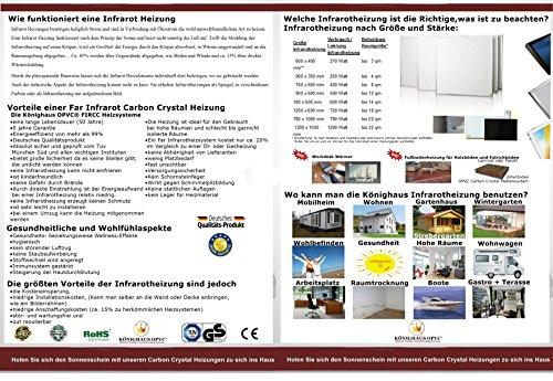 Bildheizung mit Digitalthermostat und Stecker für die Steckdose – 5 Jahre Herstellergarantie - 3