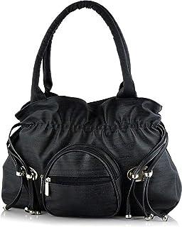 Jsm Fashion Women'S Black Synthetic Leather Handbag