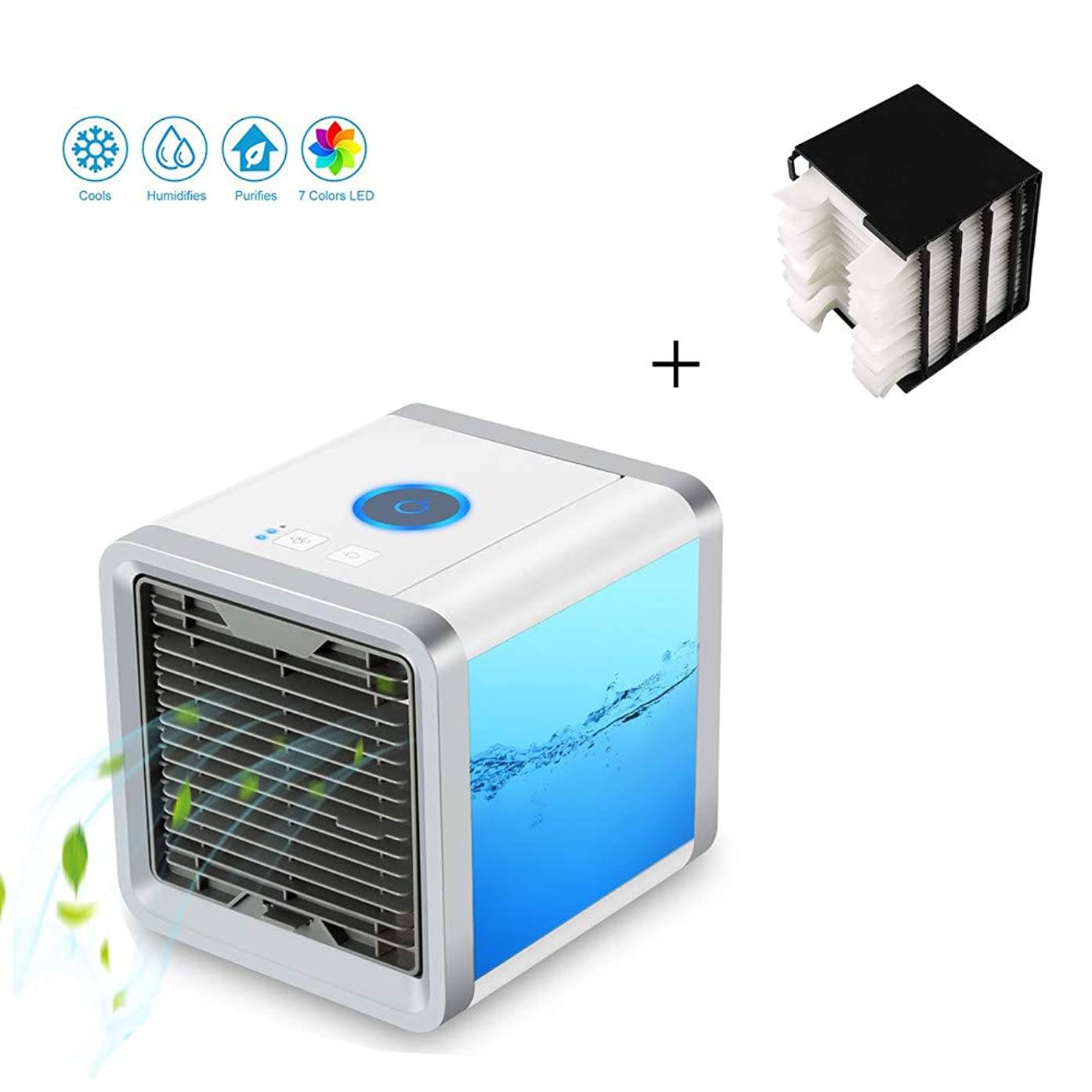 MSG ZY Portable Air Conditioner Fan, Mini Personal Evaporative Air Cooler Fan Misting Cooler Desk Humidifier Fan for Office Dorm,A