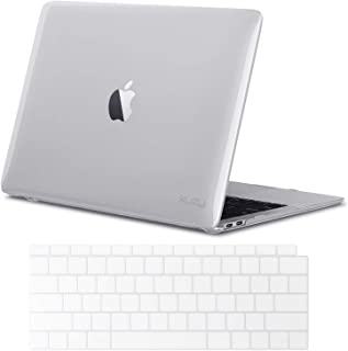 Kuzy - MacBook Air 13 inch Case 2019 2018 Release A1932 with Keyboard Cover for 13 inch MacBook Air Case with Retina Display and Touch ID - Crystal Clear