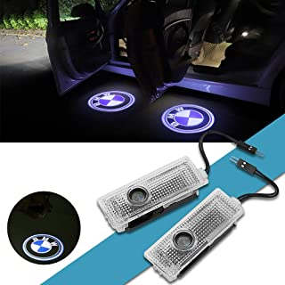 Car Door LED Light Logo HD Projector Ghost Shadow Welcome Lights Low Consumption Shadow Lights for BMW 3/5/6/7/Z/GT/X/Mini Series (4 Pack)