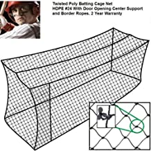 Baseball Batting Cage Net 30x12x10 #24 Twisted Poly Hdpe w/ Door Opening