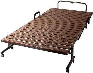 タンスのゲン 折りたたみベッド 抗菌 防カビ 樹脂すのこ シングル ベッド内寸 幅89.5 11719231 01