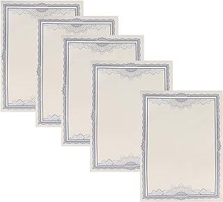 Tomaibaby 5Pcs Certificats de Récompense Papier de Certificat Vierge A4 Feuille de Certificat de Diplôme de Frontière Bleu...