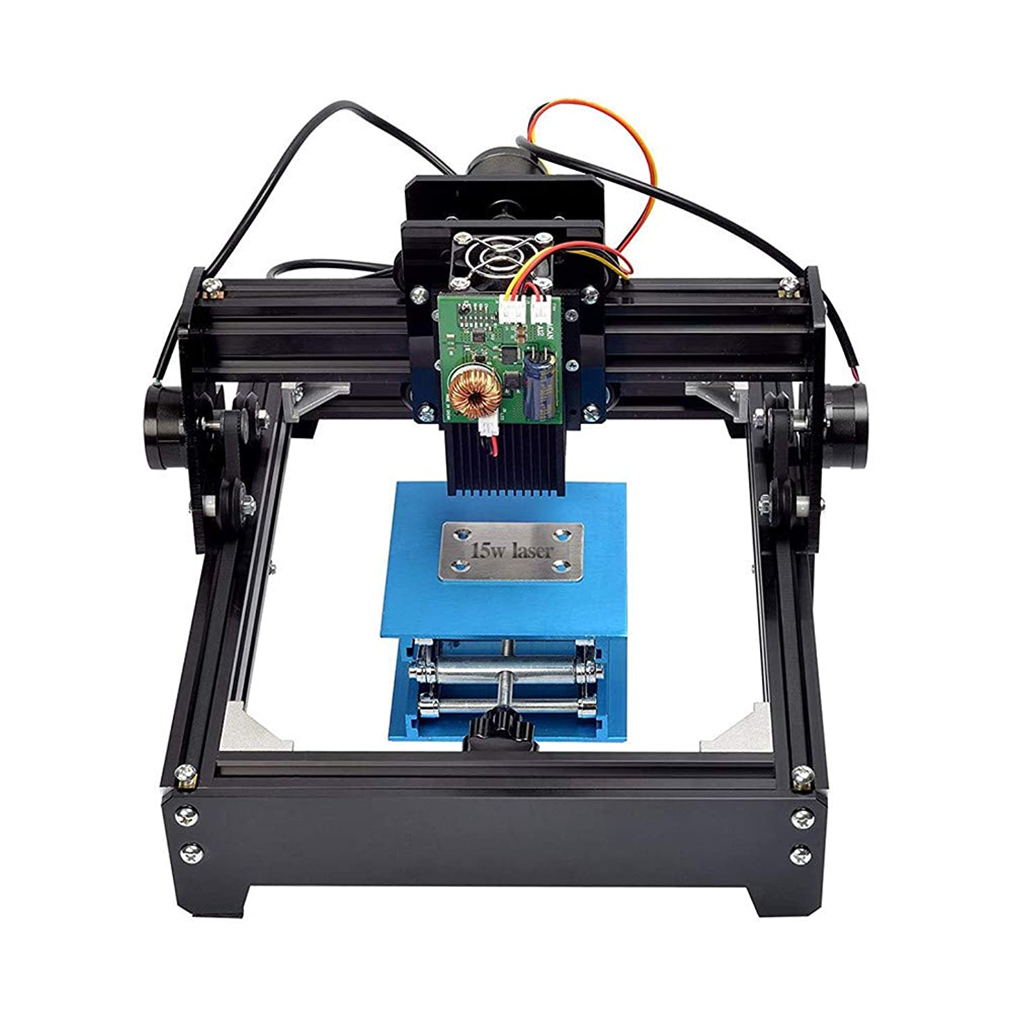 4YANG 15W Mini Laser Engraver, High Speed USB DIY Engraving Machine with High Power Pulsed Laser for Metal Steel Iron Stone Wood Marking Used As Logo Printer