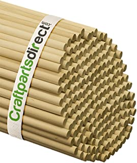 3/8 Inch x 48 Inch Wooden Dowel Rods - Unfinished Hardwood Dowels For Crafts & Woodworking - By Craftparts Direct - Bag of 100