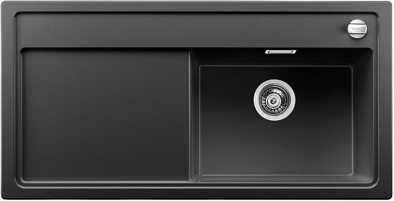 Weiß ZENAR XL 6 S, Küchenspüle, Granitspüle aus Silgranit PuraDur inklusiv Glasschneidbrett, Becken rechts, 1 Stück, anthrazit-schwarz, 519271