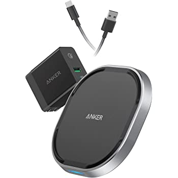 Anker USB-C Wireless Charger, 15W Fast Wireless Charging Pad, Qi-Certified, 7.5W Fast Charge iPhone Xs/XS Max/XR/X/8/8 Plus, 10W for Galaxy Note 9/S9+/S9, PowerWave 15 Pad (with Quick Charge Adapter)