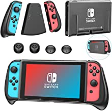 Dockable Grip Case for Nintendo Switch, OIVO Handheld Grip&Comfort Grip Bundle with Upgraded Asymetrical Design for Ninten...