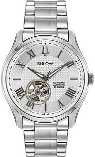 Bulova - para Hombre Reloj de Acero Inoxidable automtico de corazn Abierto 96a207