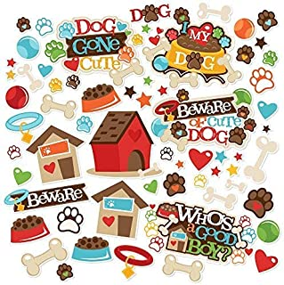 Paper Die Cuts - Dog Gone Cute - Over 60 Cardstock Scrapbook Die Cuts - by Miss Kate Cuttables