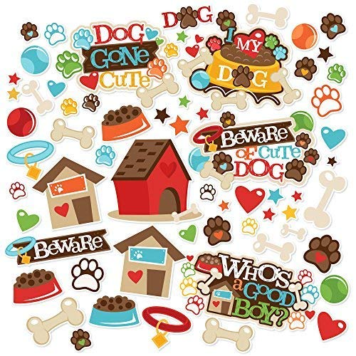 Paper Die Cuts - Dog Gone Cute - Over 60 Cardstock Scrapbook Die Cuts - by Miss Kate Cuttables