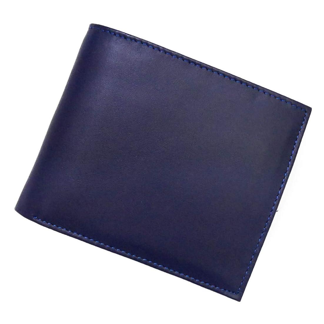 巻き取り飾り羽うんざり財布 メンズ 二つ折り 本革 牛革 5色