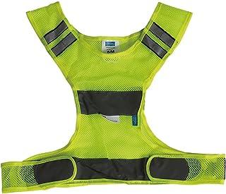 Höga Sicherheitsweste für den Sport Größe XL   2XL, gelb, 110 cm mit Klettverschluss