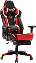 Ficmax Massage Gaming Chair Ergonomic Gamer Chair with Footrest Reclining Racing Chair PU Leather E-Sports Chair High Back PC Gaming Chair with Headrest and Lumbar Support Plus Size Computer Chair