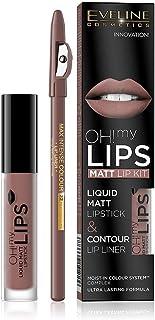 Eveline Oh My Lips Liquid Matt Lipstick&Lip Liner No. 02 Milky Chocolate