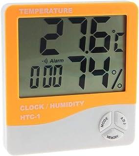XYXZ Mini Termómetro Higrómetro Digital Interior LCD Electrónico Digital Medidor De Humedad Y Temperatura Reloj Despertado...