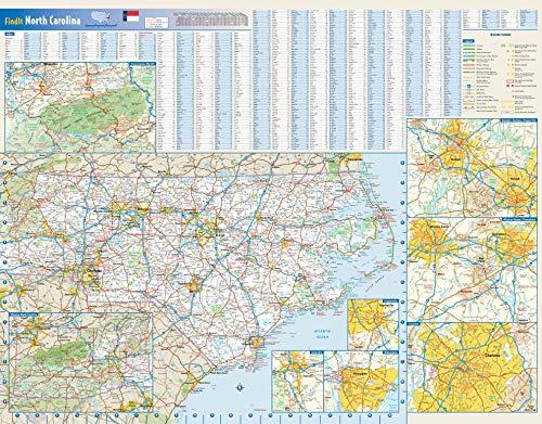 North Carolina State Wall Map - 27.5' x 21.75' Paper