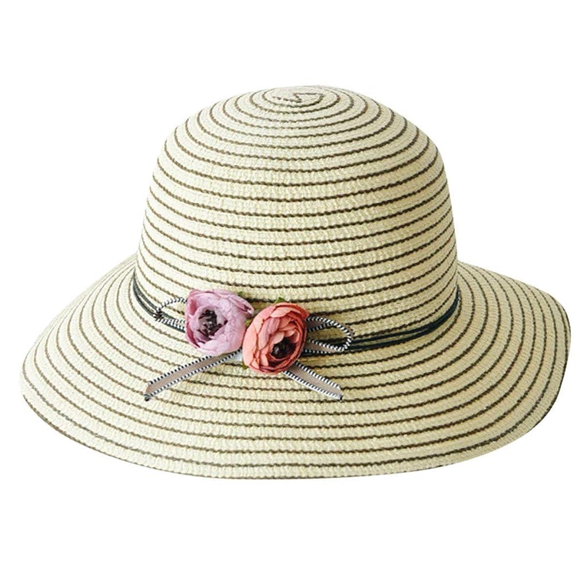 観点行くスポーツの試合を担当している人帽子 レディース 漁師帽 夏 UVカット 帽子 綿糸 ハット レディース 紫外線100%カット UV ハット 可愛い 小顔効果抜群 日よけ 折りたたみ つば広 小顔効果抜群 折りたたみ 海 旅行 ROSE ROMAN