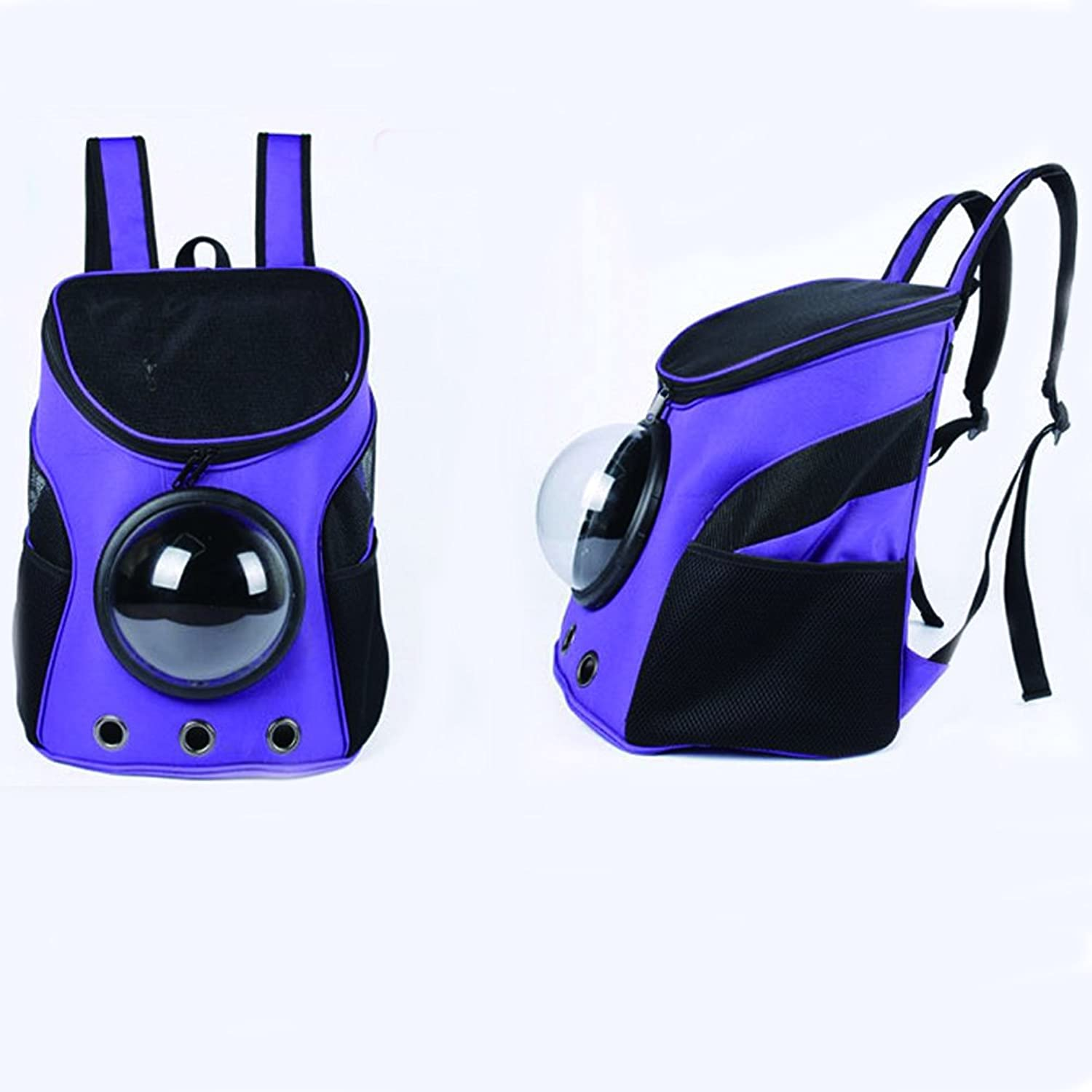 Pet Portable Carrier Space Capsule Backpack PU Leather Dog Cat Small Animals Travel Bag