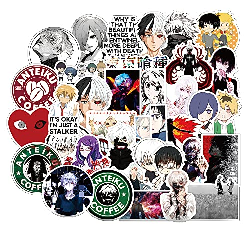50 PCS Tokyo Ghoul Stickers,Laptop Waterproof Stickers,Perfect to Laptop Luggage Car Motorcycle Bicycle,DIY Decoration for Kids and Adults.