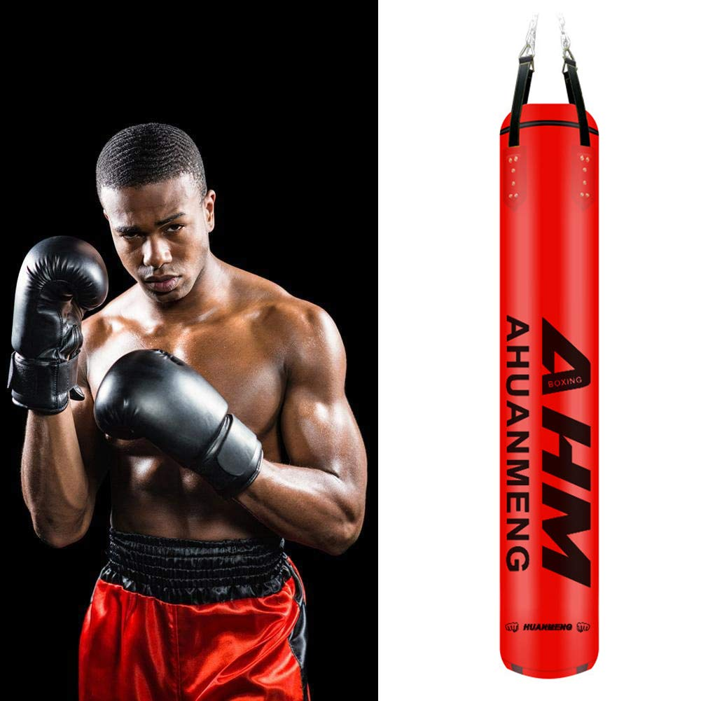 Heavy Boxing Bags Hanging Boxing Punch Bag With Chain And Wraps For Adult Professional And Beginners Boxer Training,120cm ALTINOVO Profession Kickboxing Bag