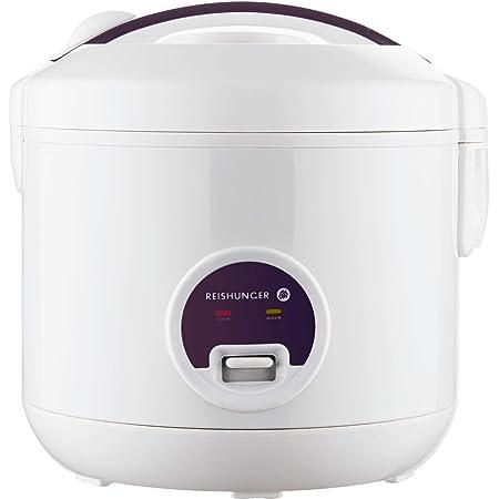 Cuiseur de riz et cuiseur à vapeur Reishunger avec fonction de maintien au chaud - Pour 1-6 personnes - Préparation rapide sans brûler – Revêtement anti-adhésif avec insert pour cuiseur à vapeur