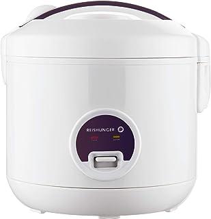 Reishunger rijstkoker & stoompan met warmhoudfunctie - Voor 1-6 personen - Snelle bereiding zonder aanbranden - Anti-aanba...