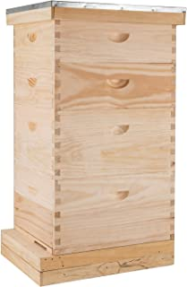 Mophorn Complete Langstroth Beehive Kit Beehive Frames 4 Layer Beehive Frame Deep Beehive Frame Medium Langstroth Hive 20 Frame Langstroth Frames 2 Brood Box 2 Super Box