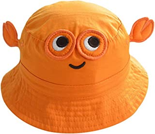 Toyobuy Baby Bucket Hat Crab Pattern Sunhat With Chin Strap