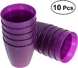 BESTONZON 10PCS 250ml Plastic Party Drinking Cups Reusable Water Juice Tumblers Unbreakable Stackable Coffee Beer Drinkware for Kids Children Toddlers (Purple)