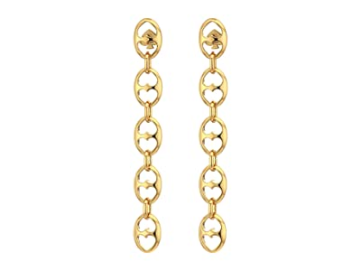 Kate Spade New York Duo Link Statement Linear Earrings (Gold) Earring